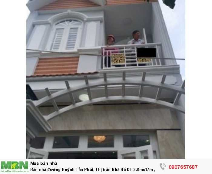 Bán nhà đường Huỳnh Tấn Phát, Thị trấn Nhà Bè DT 3.8mx17m , 1 lầu 1 trệt
