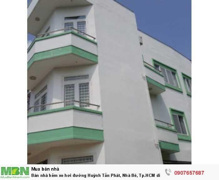 Bán nhà hẻm xe hơi đường Huỳnh Tấn Phát, Nhà Bè, Tp.HCM diện tích 60m2