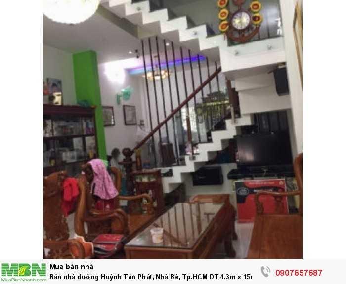 Bán nhà đường Huỳnh Tấn Phát, Nhà Bè, Tp.HCM DT 4.3m x 15m, 1 lầu 1 trệt
