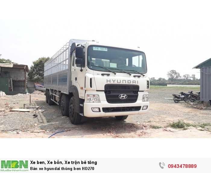 Bán xe hyundai thùng ben HD270 6