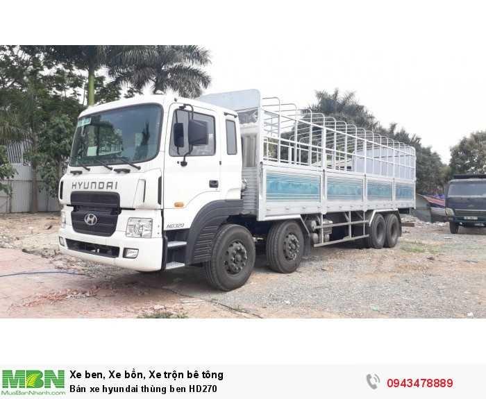 Bán xe hyundai thùng ben HD270 7