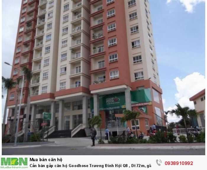 Cần bán gấp căn hộ Goodhose Trương Đình Hội Q8 , Dt 72m, giá bán 1.25 tỷ.