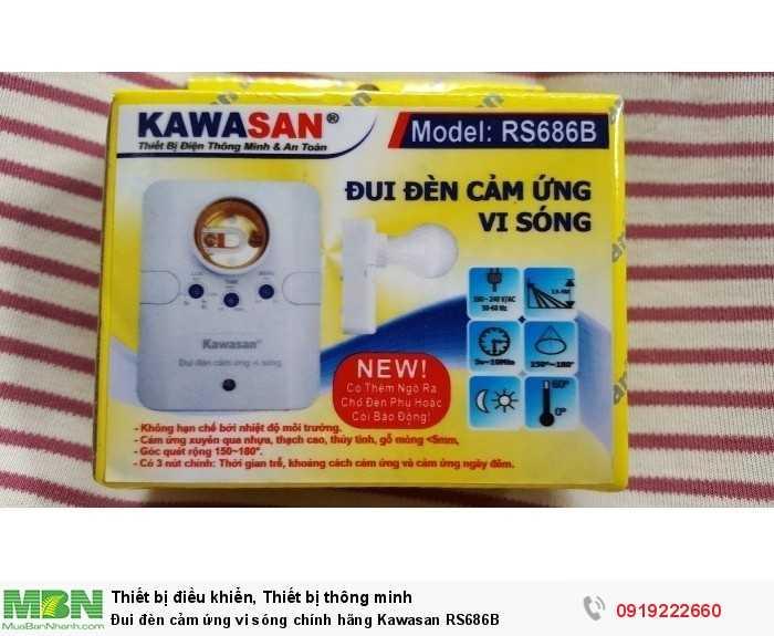 Đui đèn cảm ứng vi sóng chính hãng Kawasan RS686B