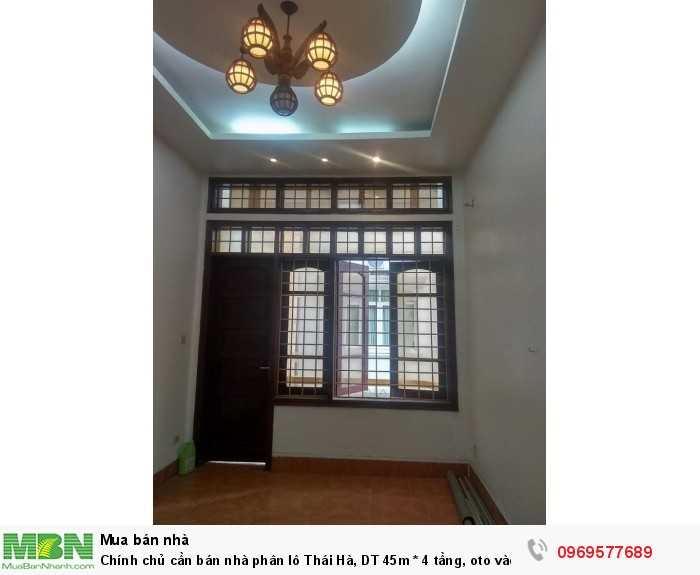 Chính chủ cần bán nhà phân lô Thái Hà, DT 45m * 4 tầng, oto vào nhà, kinh doanh