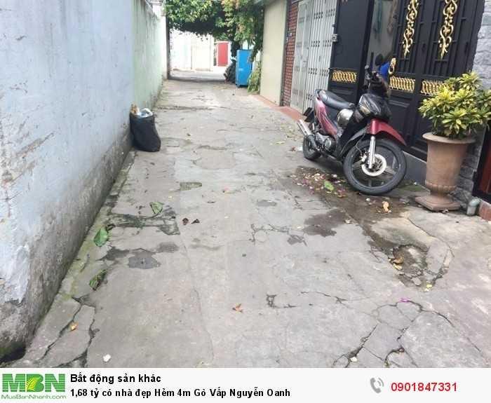 1,68 tỷ có nhà đẹp Hẻm 4m Gò Vấp Nguyễn Oanh
