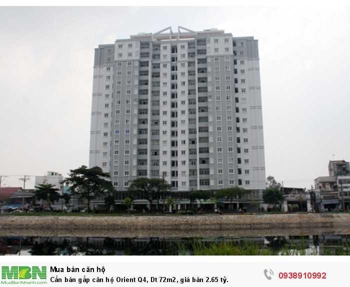 Cần bán gấp căn hộ Orient Q4, Dt 72m2