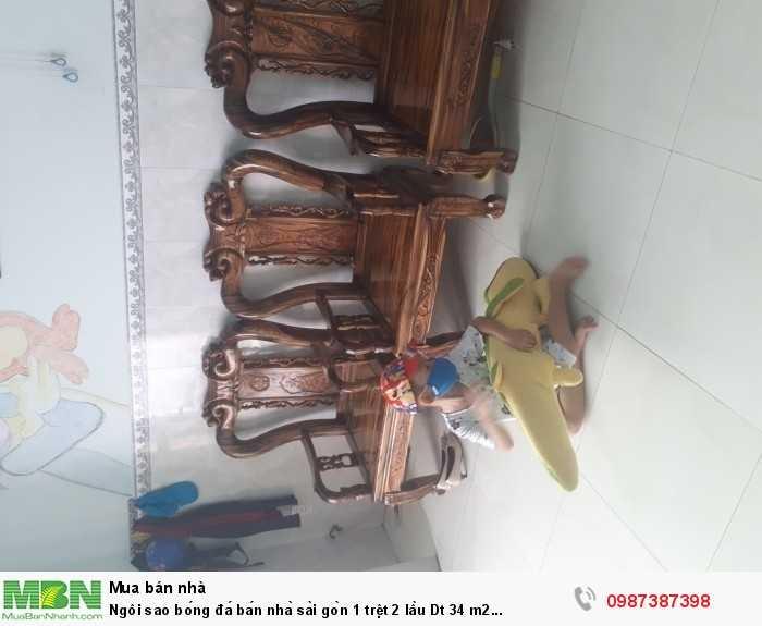 án nhà sài gòn 1 trệt 2 lầu Dt 34 m2 giá 3.2 tỷ F9 Tân Bình.