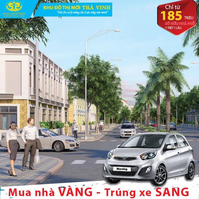 Nhà phố khu đô thị mới Trà Vinh, ưu đãi lãi suất, ưu đãi quà tặng