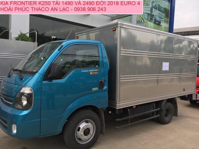 Giá xe tải 2 tấn 4 K250 đời 2018 , tiêu chuẩn Euro 4 động cơ Hyundai