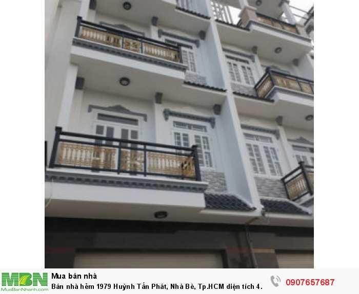 Bán nhà hẻm 1979 Huỳnh Tấn Phát, Nhà Bè, Tp.HCM diện tích 4.6m x 13m