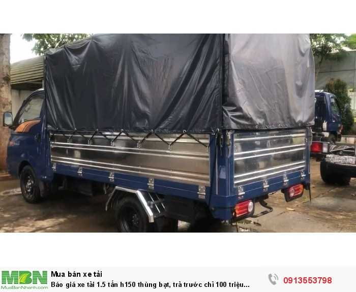 Xe tải 1.5 tấn h150 thùng bạt chất lượng cao, bảo hành bảo dưỡng dễ dàng toàn quốc, nên mua ngay- gọi 0913553798 (24/24)