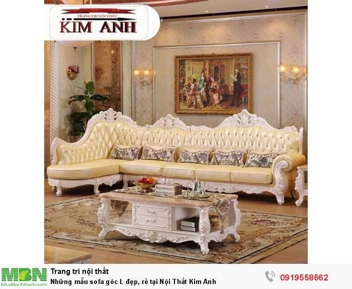 [2] Những mẫu sofa cổ điển góc L đẹp, rẻ tại Cần thơ, An Giang