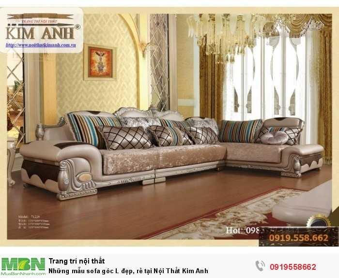 [6] Những mẫu sofa cổ điển góc L đẹp, rẻ tại Cần thơ, An Giang