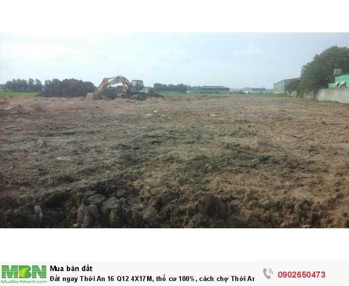 Đất ngay Thới An 16  Q12 4X17M, thổ cư 100%, cách chợ Thới An 800m !!!!