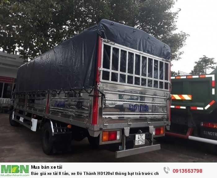 Báo giá xe tải 8 tấn, xe Đô Thành HD120sl thùng bạt trả trước chỉ 200 triệu, tặng 100% trước bạ, giao xe nhanh 1