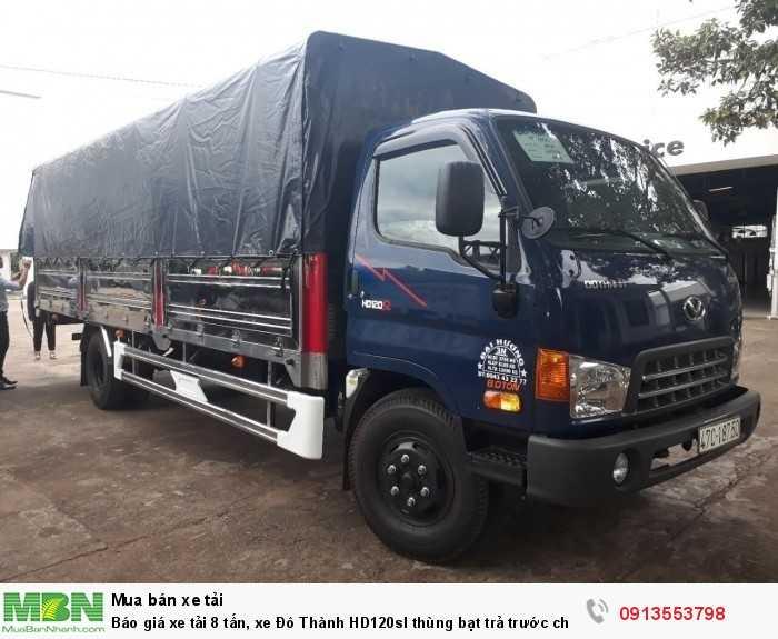 Báo giá xe tải 8 tấn, xe Đô Thành HD120sl thùng bạt trả trước chỉ 200 triệu, tặng 100% trước bạ, giao xe nhanh 4