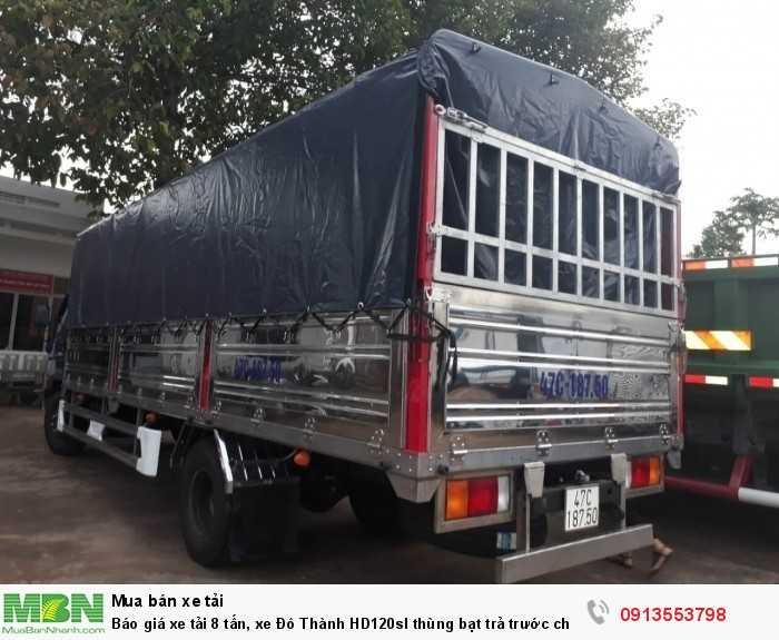 Báo giá xe tải 8 tấn, xe Đô Thành HD120sl thùng bạt trả trước chỉ 200 triệu, tặng 100% trước bạ, giao xe nhanh