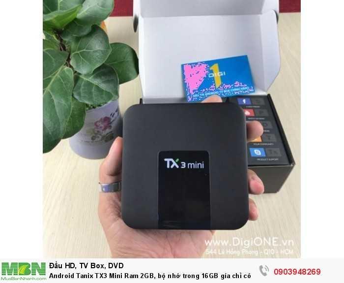 Android Tanix TX3 Mini Ram 2 GB, rom 16 GB Quý khách được dùng thử 10 ngày. Nếu không hài lòng về sản phẩm thì có thể đổi sản phẩm có cấu hình tương đương hoặc cao hơn.
