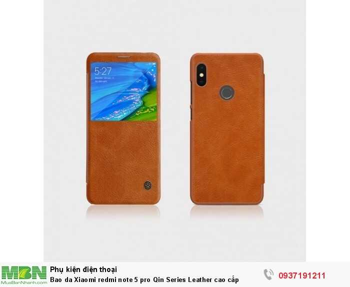 Bao da Xiaomi redmi note 5 pro Qin Series Leather cao cấp0