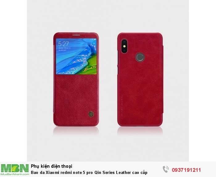 Bao da Xiaomi redmi note 5 pro Qin Series Leather cao cấp1