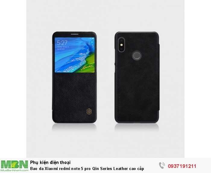 Bao da Xiaomi redmi note 5 pro Qin Series Leather cao cấp2