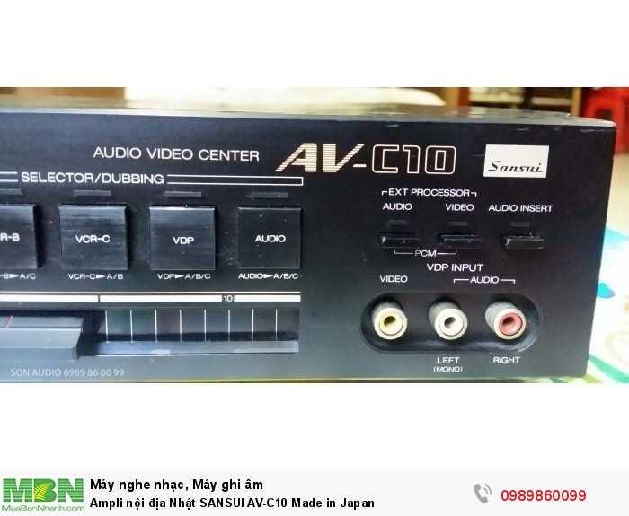 Ampli nội địa Nhật SANSUI AV-C10 Made in Japan1