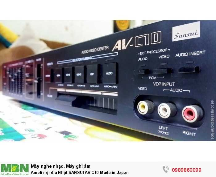 Ampli nội địa Nhật SANSUI AV-C10 Made in Japan2