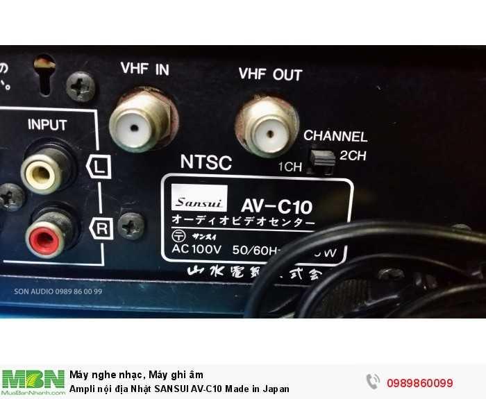 Ampli nội địa Nhật SANSUI AV-C10 Made in Japan14