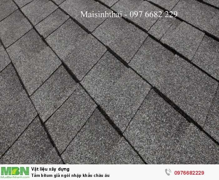 Tấm bitum giả ngói - maisinhthai - Ngói bitumphủ đá - 097 6682 2299