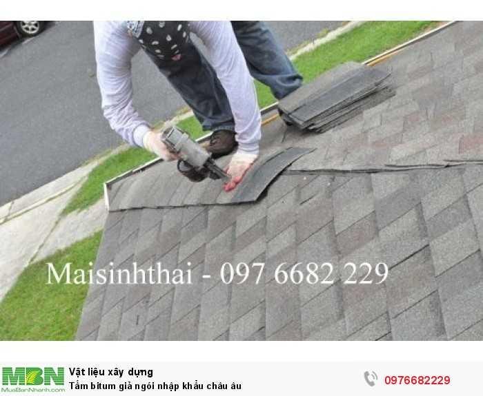 Tấm bitum giả ngói - maisinhthai - Ngói bitumphủ đá - 097 6682 22917