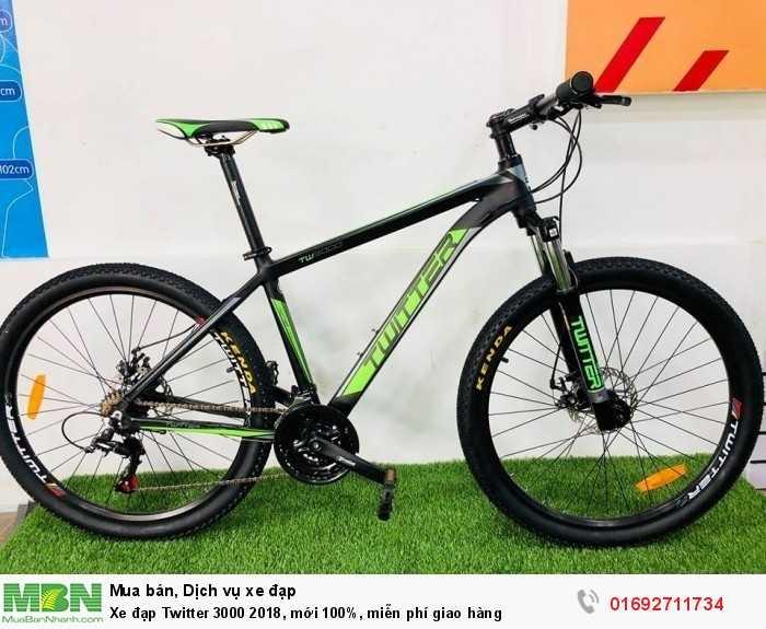 Xe đạp Twitter 3000 2018, mới 100%, miễn phí giao hàng, màu Đen xanh lá
