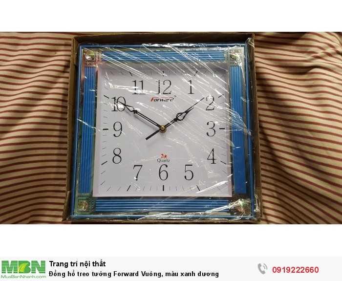 Đồng hồ treo tường Forward Vuông, màu xanh dương2