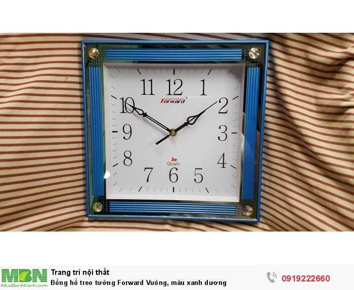 Đồng hồ treo tường Forward Vuông, màu xanh dương3