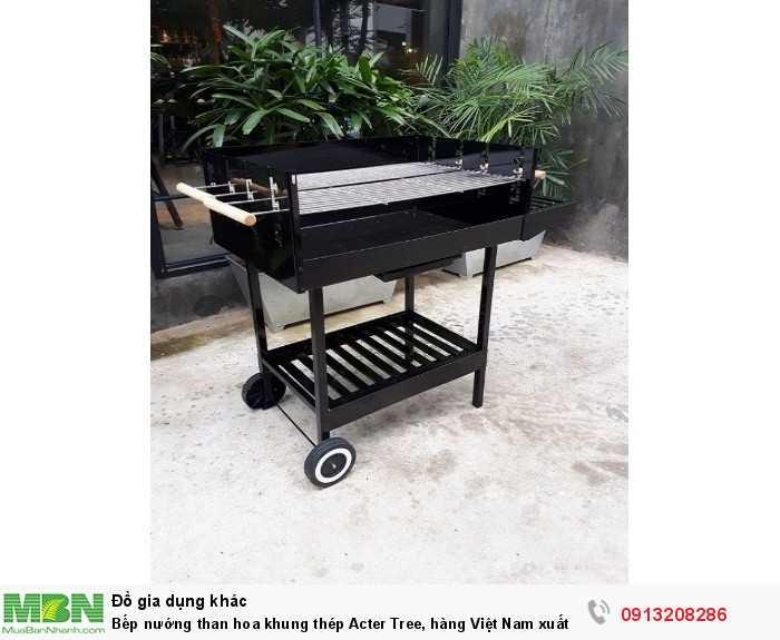 Bếp nướng than hoa khung thép Acter Tree, hàng Việt Nam xuất khẩu1