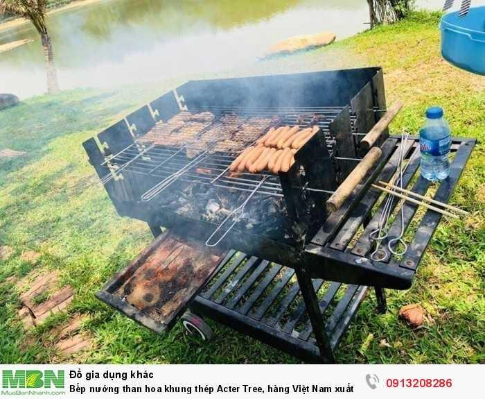 Bếp nướng than hoa khung thép Acter Tree, hàng Việt Nam xuất khẩu4