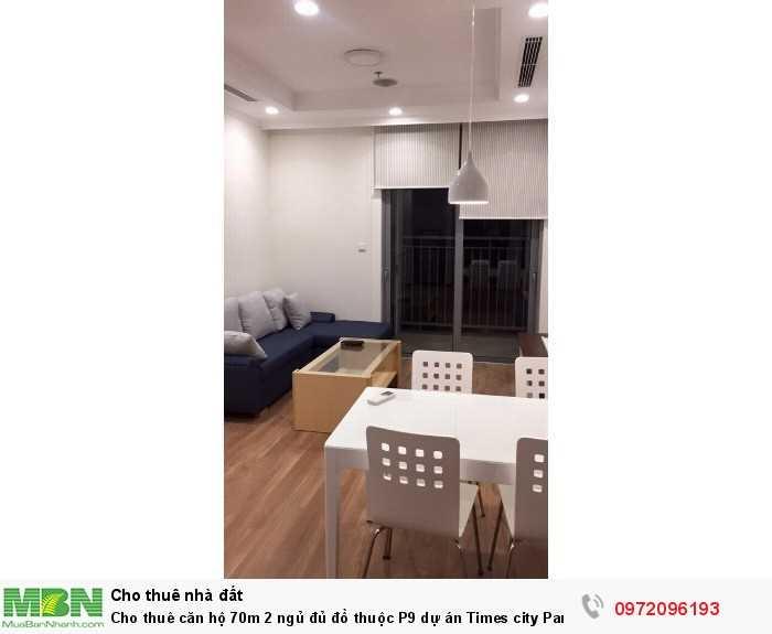 Cho thuê căn hộ 70m 2 ngủ đủ đồ thuộc P9 dự án Times city Park hill