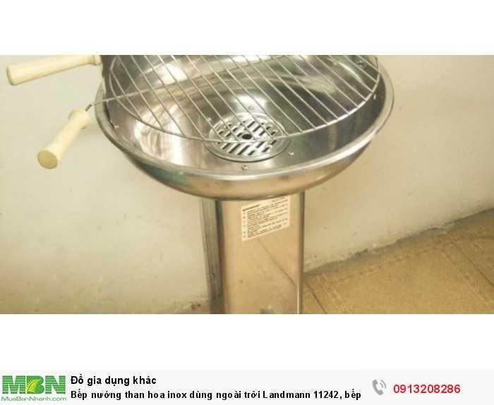 Bếp nướng than hoa inox dùng ngoài trời Landmann 11242, bếp nướng xuất khẩu5