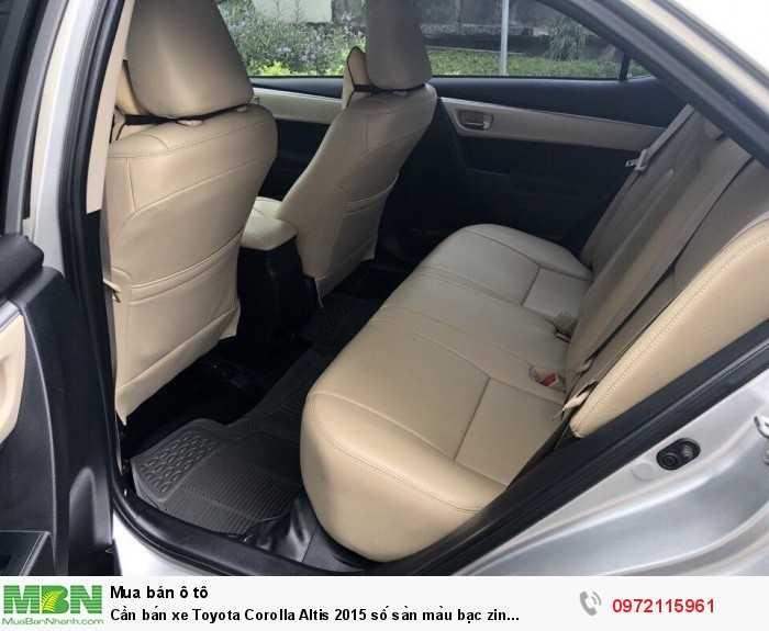 Cần bán xe Toyota Corolla Altis 2015 số sàn màu bạc zin cọp 4