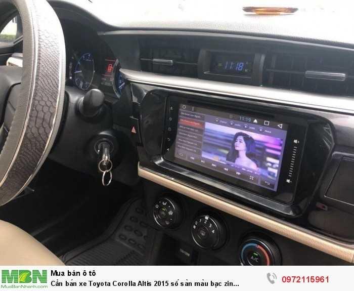 Cần bán xe Toyota Corolla Altis 2015 số sàn màu bạc zin cọp 5