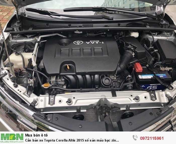 Cần bán xe Toyota Corolla Altis 2015 số sàn màu bạc zin cọp 6