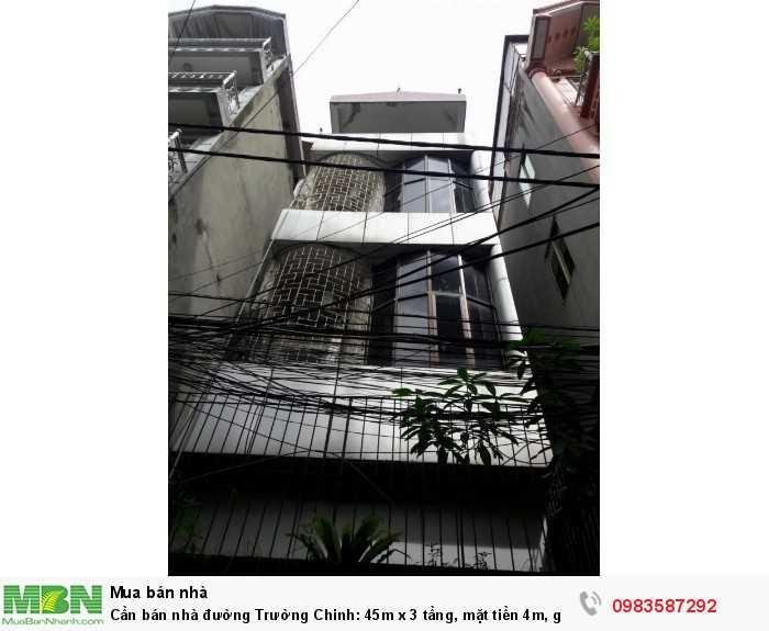 Cần bán nhà đường Trường Chinh: 45m x 3 tầng, mặt tiền 4m, giá 4,32 tỷ.