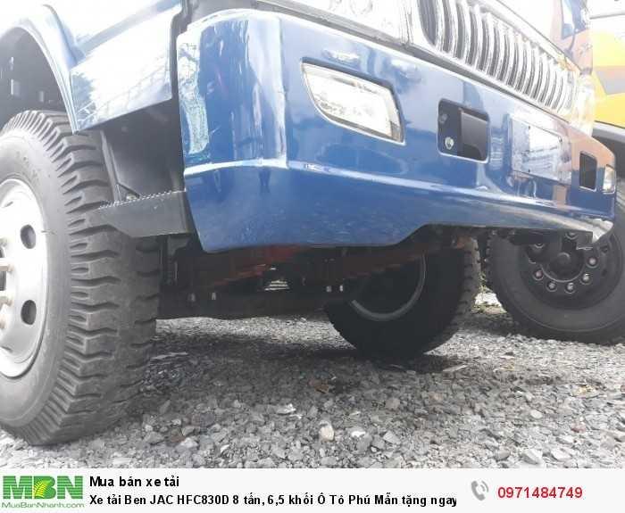 Xe tải Ben JAC HFC830D 8 tấn, 6,5 khối  Ô Tô Phú Mẫn  tặng ngay 1000 lít dầu, định vị phù hiệu
