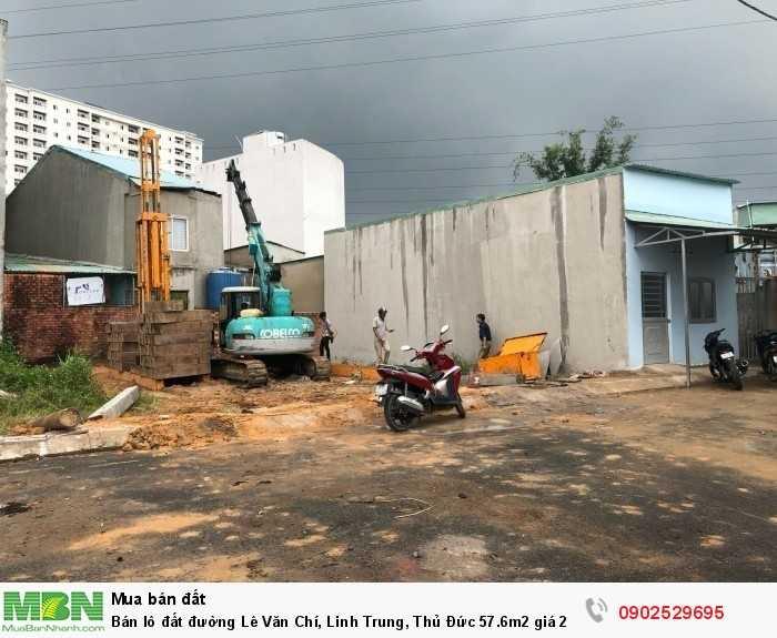 Bán lô đất đường Lê Văn Chí, Linh Trung, Thủ Đức 57.6m2 giá 2,3 tỷ đường lớn, gần ngã tư Thủ Đức