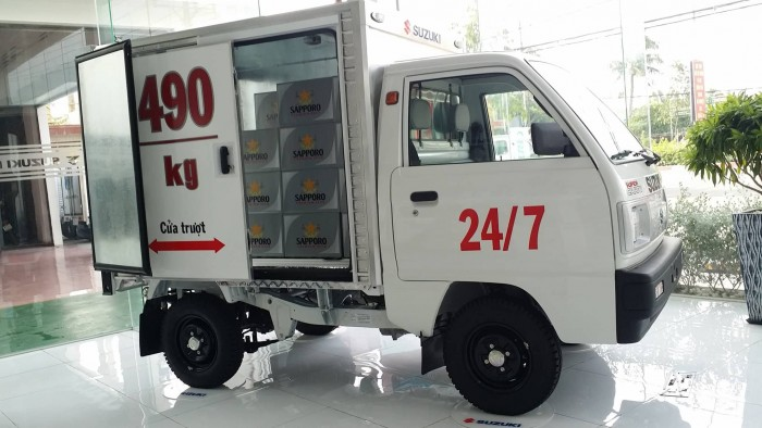 Suzuki Super Carry truck 490kg (cửa Lùa bên thân xe)