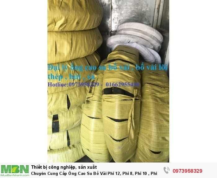 ống cao su bố vải nhiều lớp bố