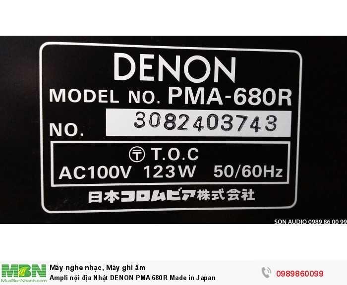 Ampli nội địa Nhật DENON PMA 680R Made in Japan10