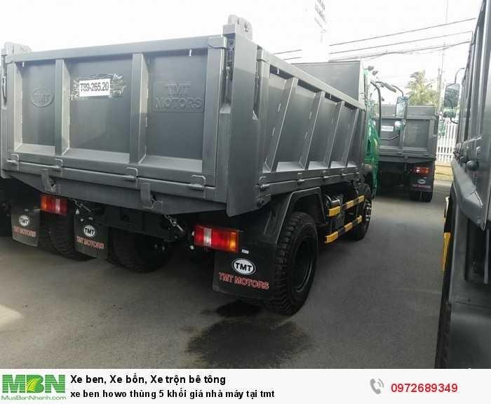 Xe ben Howo thùng 5 khối giá nhà máy tại tmt