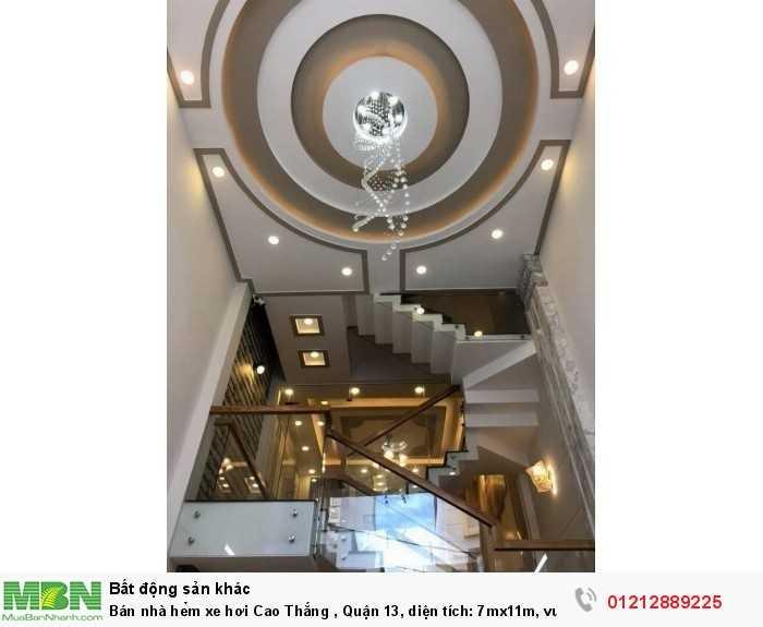 Bán nhà hẻm xe hơi Cao Thắng , Quận 3, diện tích: 7mx11m, vuông vức đẹp. giá 11,8 tỷ