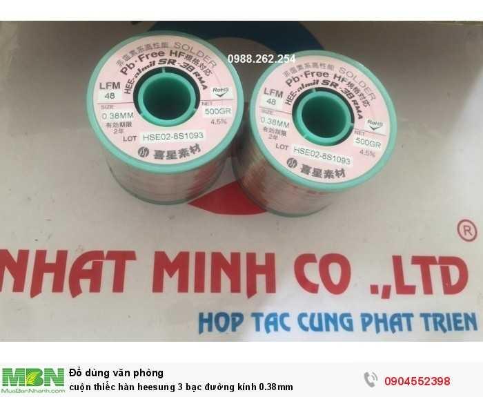 Cuộn Thiếc Hàn Heesung 3 Bạc Đường Kính 0.38Mm