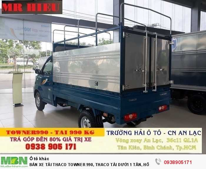 Bán Xe Tải Thaco Towner 990, Thaco Tải Dưới 1 Tấn, Hỗ Trợ 100% Thuế Trước Bạ Khi Mua Xe 4